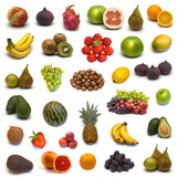 Fototapety large page of fruits on white background