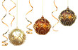 Pretty Christmas baubles isolated