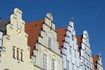 Old beautiful houses from Schleswig-Holstein in Germany