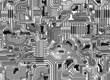 Perfect tiling seamless circuit board illustation.