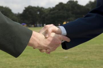 Army - Air Force handshake