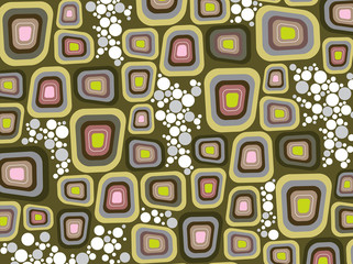 retro purple soft edge squares and dots