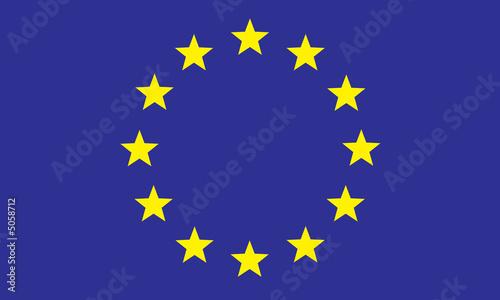 Foto op Canvas Violet Fahne Europa