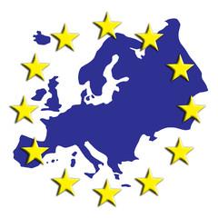 Fahne Karte Europa