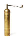 Old manual coffee grinder poster