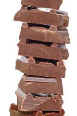 morceaux de chocolat empilés