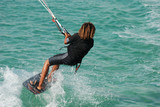 Kitesurfer in action poster
