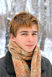 teenager portrait in the winter poster
