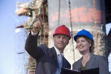 Oil rig survey engineers