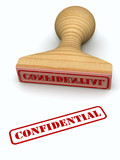 Confidential stamp poster