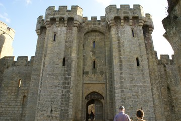 castle gatehouse with castellations