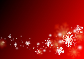dream flying snowflake in red background,christmas