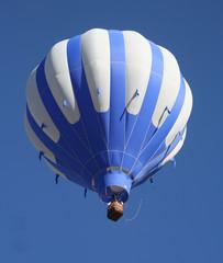 Blue and White Hot Air Balloon