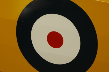 RAF WWII roundel on airplane