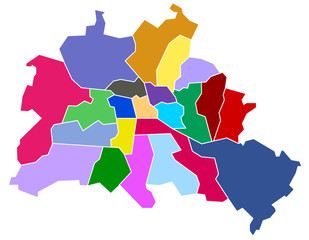 Berlin, Stadtkarte, Stadtteilkarte
