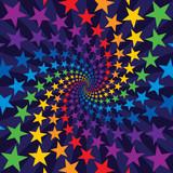 Star swirl burst poster