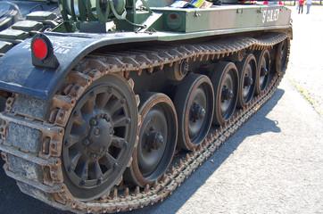 Chenilles de tank