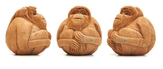 Funny monkey figure