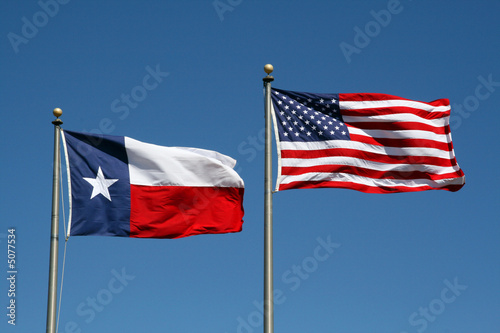 Texas and US Flag
