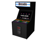 Angled Arcade Game on White poster