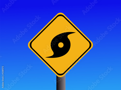 Warning hurricane sign