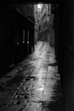 Dark alley in Venice poster