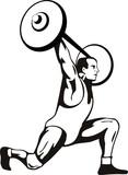 Weightlifter vector poster
