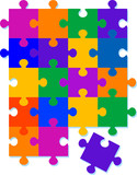 Jigsaw Pattern Background Design