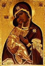 En ortodox ikon av Maria, Vladimirskaya