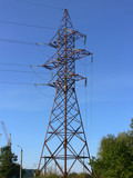 Power transmission tower - whole view poster