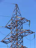 Power transmission tower - top poster