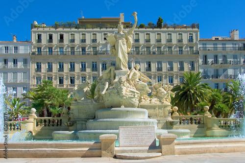 Grand fountain, Place de liberte, Toulon, France - 5089177