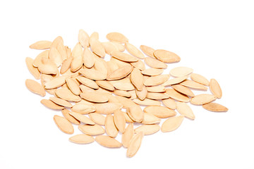 isolated pumpkin seeds