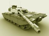 Illustration of a Challenger Main Battle Tank. poster