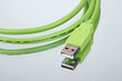 Grünes USB-Kabel
