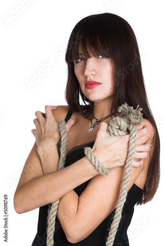 The beautiful girl and rope