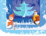 christmas characters poster
