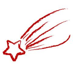 Etoile filante rouge