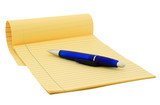 Legal pad (clipping path) poster