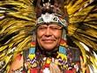 Leinwanddruck Bild - Aztec tribal elder