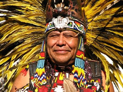 Leinwanddruck Bild Aztec tribal elder