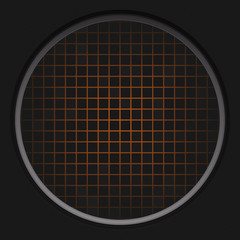 Orange Radar Grid