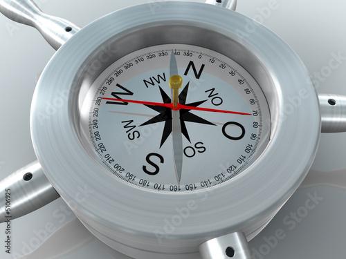 Leinwandbild Motiv Kompas