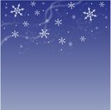 Fototapety Fond bleu hivernal - abstrait
