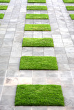 Geometric Paving and Lawn poster