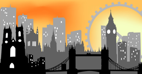 London cityscape - Illustration
