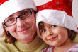 mother and daughter in Christams time