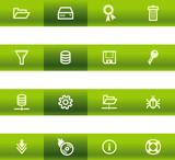 Green bar server icons poster