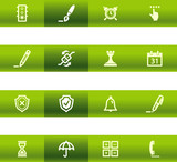 Green bar software icons poster