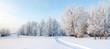 Panorama of freezing day.